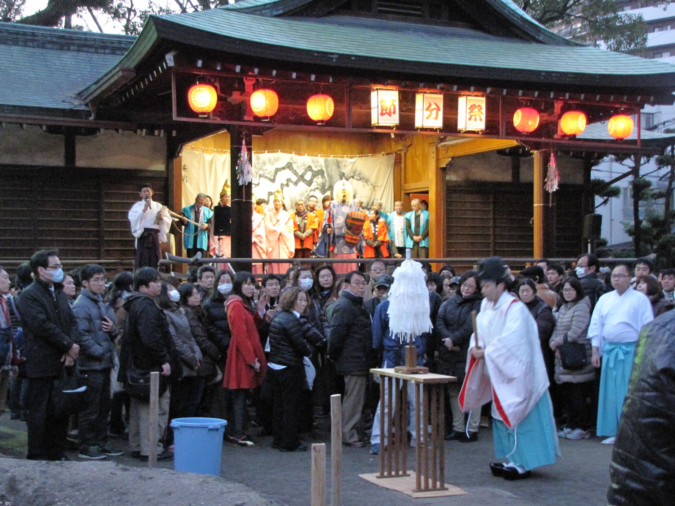 Setsubun at Sumiyoshi Jinja Shrine  Fukuoka Now